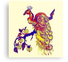 Peacock in a Peach Tree (Remix) Metal Print