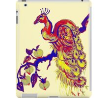 Peacock in a Peach Tree (Remix) iPad Case/Skin