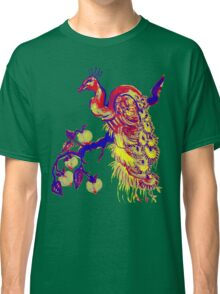 Peacock in a Peach Tree (Remix) Classic T-Shirt