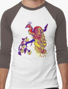 Peacock in a Peach Tree (Remix) Men's Baseball ¾ T-Shirt