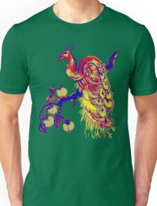 Peacock in a Peach Tree (Remix) Unisex T-Shirt