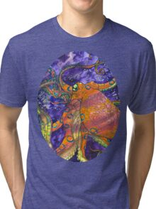 blue-ringed octopus  Tri-blend T-Shirt