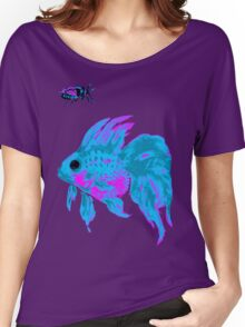 cool electric goldfish & bug Women's Relaxed Fit T-Shirt