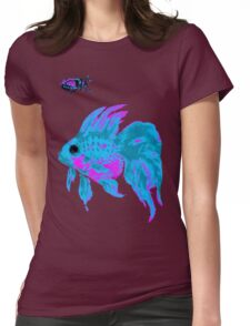 cool electric goldfish & bug Womens Fitted T-Shirt