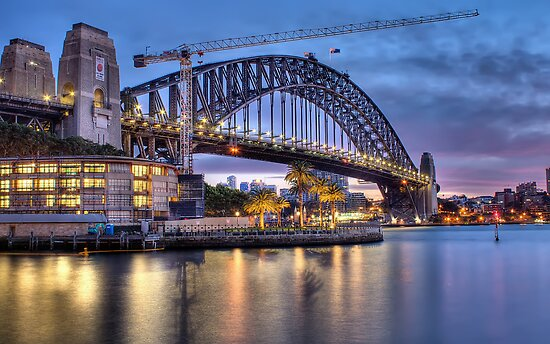 Sydney Harbour Crane by Richard  Cubitt