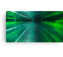 Green Stratified Flow Canvas Print