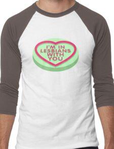 Candy Heart Pilgrim Men's Baseball ¾ T-Shirt