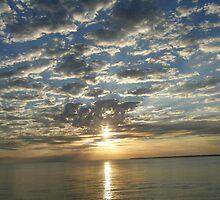 Sunset in Corozal, Belize by VikingMtnArt