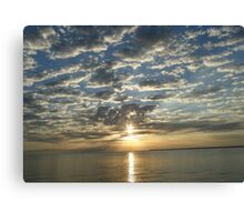Sunset in Corozal, Belize Canvas Print