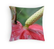 Green Malachite on a flower Throw Pillow