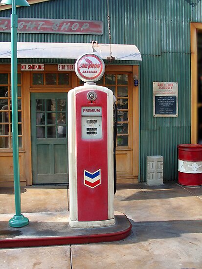 Disneyland Gas Station Pump by RoySorenson