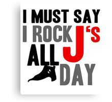 Rock JS All Day J12 Canvas Print