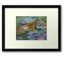 Tiger Reflections Framed Print