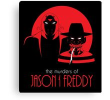 The Murders of Jason and Freddy Canvas Print