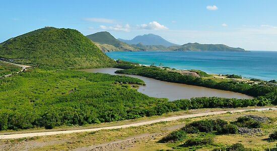 St. Kitts Landscape and Nevis Volcano by thatche2