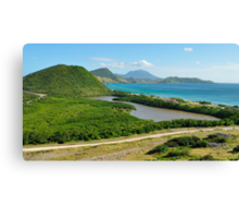 St. Kitts Landscape and Nevis Volcano Canvas Print
