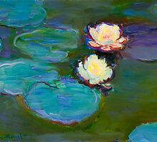 Monet Nympheas (1897-1898) Fine Art by Vicky Brago-Mitchell