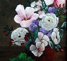 Vaas met bloemen by GWinkel