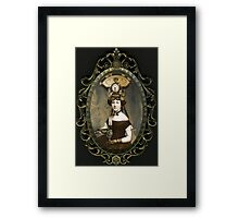 Steampunk Civil War Portrait: Adelaide Framed Print