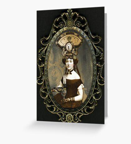 Steampunk Civil War Portrait: Adelaide Greeting Card