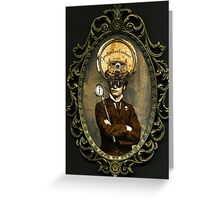 Steampunk Civil War Portrait: Silas Greeting Card