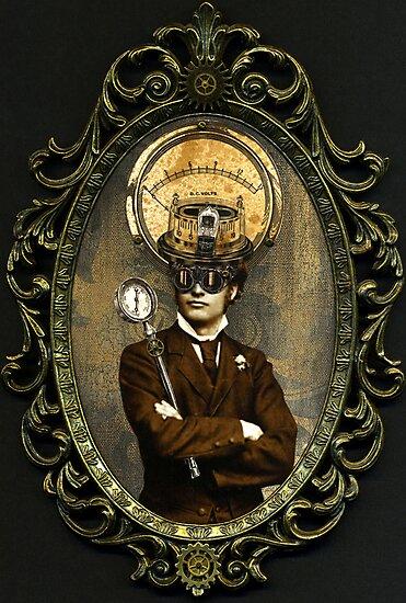 Steampunk Civil War Portrait: Silas by WinonaCookie