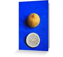 Lemon on Blue Greeting Card