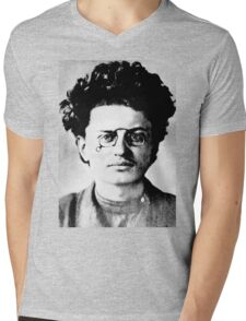 Historical Hipsters - Leon Trotsky Mens V-Neck T-Shirt