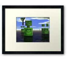 The absurd quest to improve nature  Framed Print