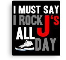 Rock JS All Day Cords Canvas Print