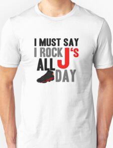 Rock JS All Day Bred13 Unisex T-Shirt