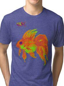 warm electric goldfish Tri-blend T-Shirt