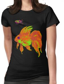 warm electric goldfish Womens Fitted T-Shirt