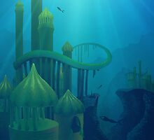 Lost Mermaid City by hartzelldesign