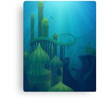 Lost Mermaid City Canvas Print