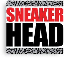 Sneaker Head Elephant Canvas Print