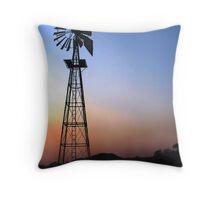 Blazing Kalahari Sunset Throw Pillow