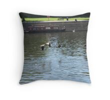 Flying happy Throw Pillow