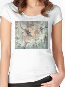 Mom's backyard. Women's Fitted Scoop T-Shirt