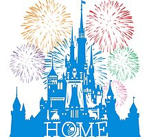 Cinderellas Castle at Walt Disney World A.K.A Home by yaney85