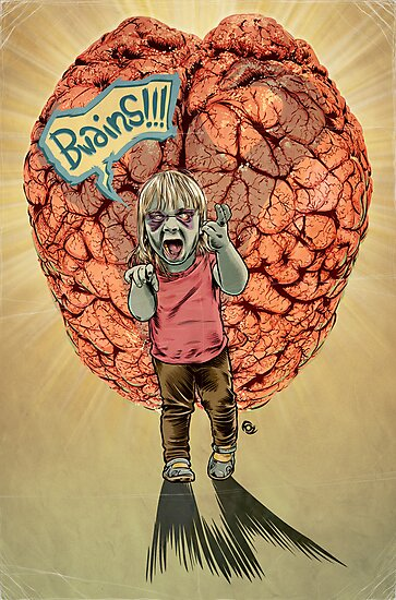 Bwains!!! Zombie Toddler. by James Fosdike