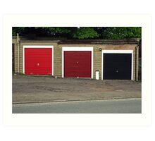 Three garages Art Print