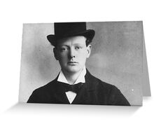 Historical Hipsters - Winston Churchill Greeting Card