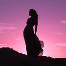 Calendar of beautiful woman and sunset by loiteke
