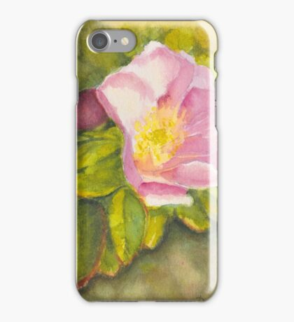 Rambling Rose on a Danish beach iPhone Case/Skin