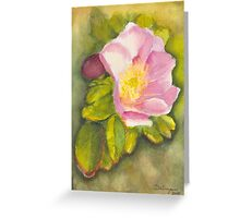 Rambling Rose on a Danish beach Greeting Card