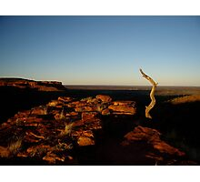 Sunrise in Kings canyon Photographic Print