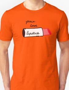 Peace, Love, Lipstick Unisex T-Shirt
