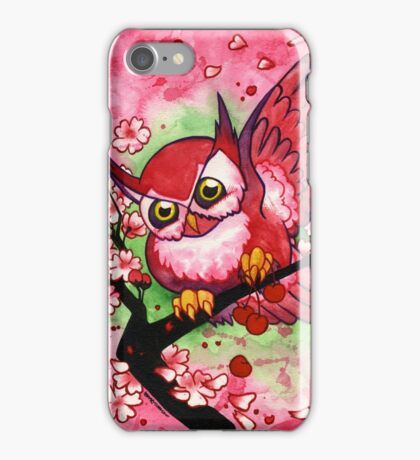Cherry Owl iPhone Case/Skin