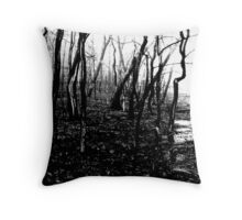 Black Dawn (Scott Peters, 2009, Digital Mixed Media) Throw Pillow